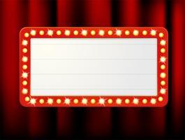 Images d'étiquette de vecteur de boîtes à lumière rétro vides pour l'insertion de votre texte.