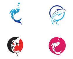 carp koi design on white background. Animal. Fish Icon. Underwater. Easy editable layered