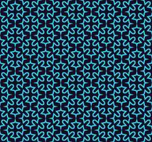 Nahtloses Muster. Ornament von Linien und Locken. Linearer abstrakter Hintergrund.