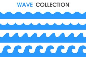 Ocean waves in a simple cartoon style. vector