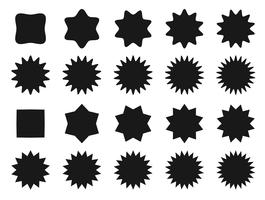 Posición de la fila de la forma de la estrella del icono del vector