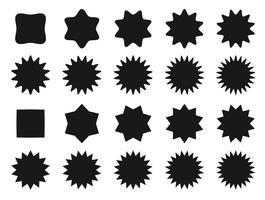 Vector icon star shape rank position.