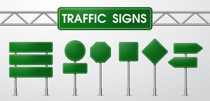 Traffic signs in realistic style Trapped by the road.