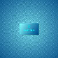 Abstract blue hexagon border pattern background.