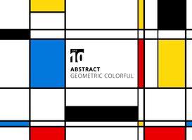 Motif coloré géométrique abstrait pour répliquer en continu avec des lignes sur fond blanc.