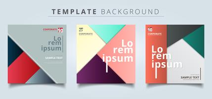 Set of abstract geometric layout minimal style background.
