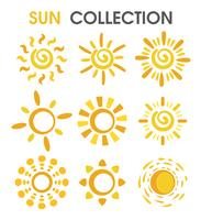 The colorful cartoon sun in a simple format.
