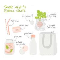 Riduci l'illustrazione dei rifiuti