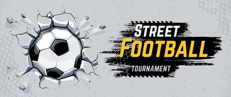 Street Football Design Vector Illustration