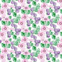 Aquarell Floral Seamless Pattern Design