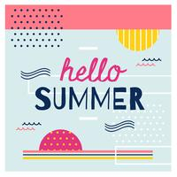 Modern Abstract Summer Vector