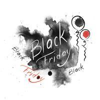 Black Friday. Icon. Lettering. Watercolor. Vector illustrarions
