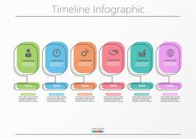 Visualização de dados corporativos. ícones de infográfico timeline projetados para modelo abstrato.