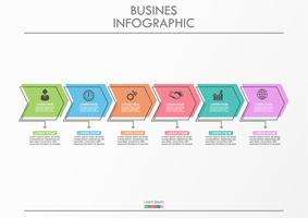 Business data visualization.arrow timeline infographic icons designed for abstract background template.
