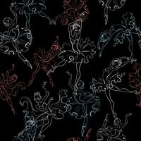 Ballerinas. Nahtloses Muster. Kleine Prinzessin. Tanzen. Vektor-illustration