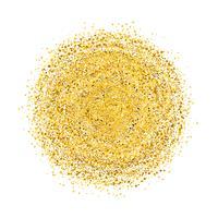 Cirkel av guldglitter med små partiklar. abstrakt bakgrund med gyllene gnistrar på vit bakgrund.