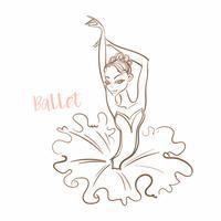 Meisje ballerina. Ballet. Logotype. Danser. Vector illustratie.