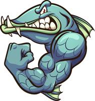 Starkes Barracuda-Maskottchen