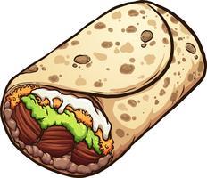 Gustoso cartone animato burrito