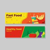 Banner de comida Vector