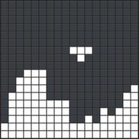 Pezzi di gioco di mattoni. Vecchio sfondo di videogiochi