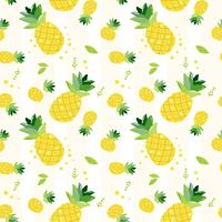cute hand draw doodle  summer pineapple fruits pattern seamless background