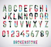 Alphabet broken font