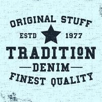 Tradition vintage stamp