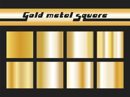Gold gradient square vector
