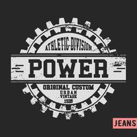 Power gear vintage stamp