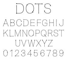 Dots letters and numbers. vector