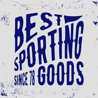 Selo vintage esportivo