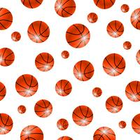 Baskettball boll sömlösa bakgrund