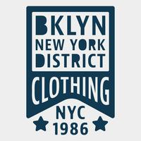 Selo vintage de Brooklyn New York