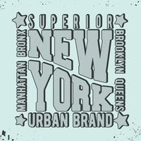 Sello vintage de nueva york