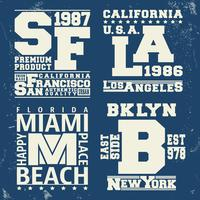 USA City Vintage Stamp