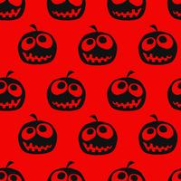 Halloween pumpa sömlös bakgrund