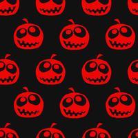 Halloween pumpkin seamless background