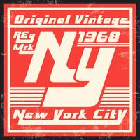 New York vintage stamp