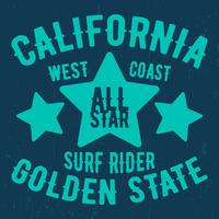 California vintage stamp vector