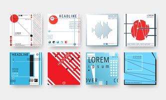 Conjunto de folletos de portada.