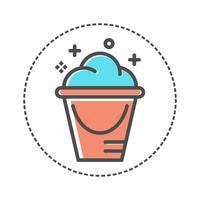 ícone de cesto de roupa suja. design plano