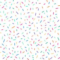 Carnival festive colorful confetti on white background. Element birthday holiday pattern.