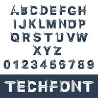 Onvolledig glitch-lettertype
