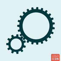 Gears icon isolated