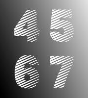 Strip font template