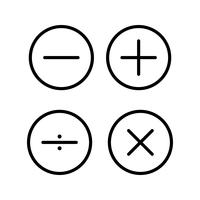 Math symbols Beautiful line black icon