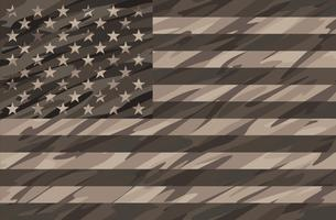Patriotische Wüste Tan Camo USA Flag Vector Illustration