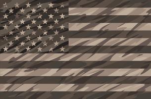 Désert patriotique Tan Camo USA Drapeau Vector Illustration