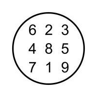 Teoría de números Hermosa línea icono negro